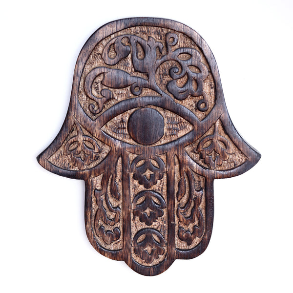 Decor - Wooden Hamsa - Cherry Blossom 7