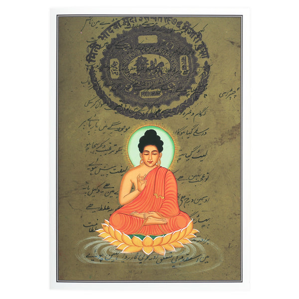 Greeting Card - Rajasthani Miniature Painting - Buddha - 5