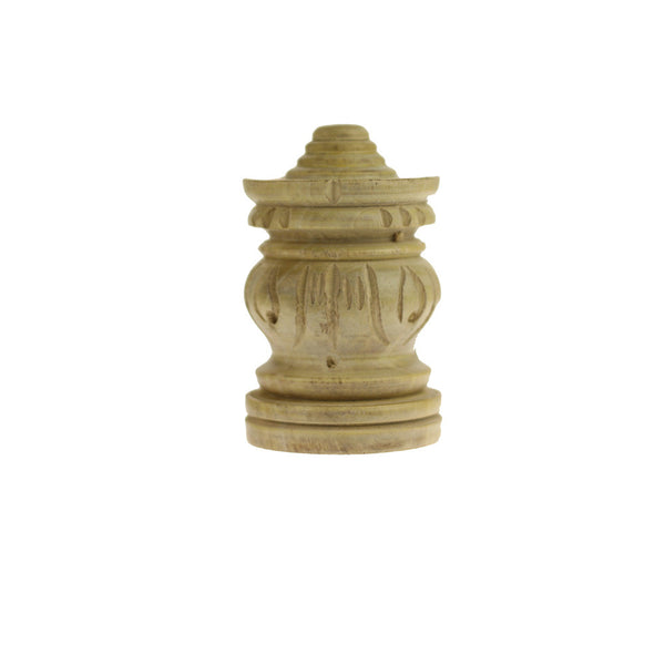 Incense Burner - Wooden Pagoda  - 3 inches high