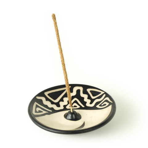 Incense Burner - Peruvian Ceramic Incense Burner for Stick Incense - 4.75