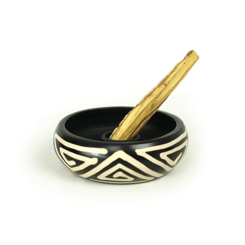 Incense Burner - Peruvian Ceramic Holder for Palo Santo Stick - 5