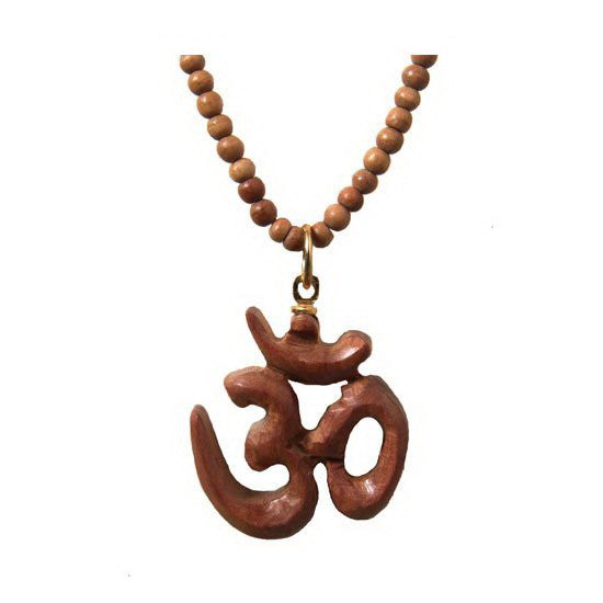 Wooden Necklace - Sandalwood Om