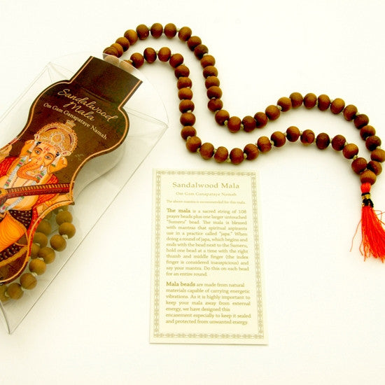 Prayer Mala Beads - Sandalwood - 108 Prayer Beads