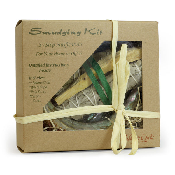 Kit - Purification Kit Palo Santo - Sage - Yerba Santa - Abalone shell