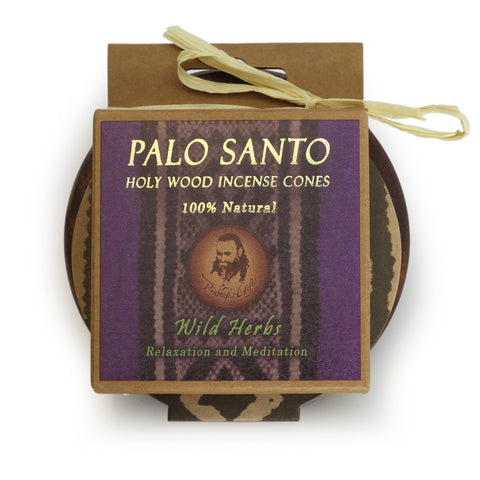Kit - Palo Santo Wild Herbs Cones with Burner