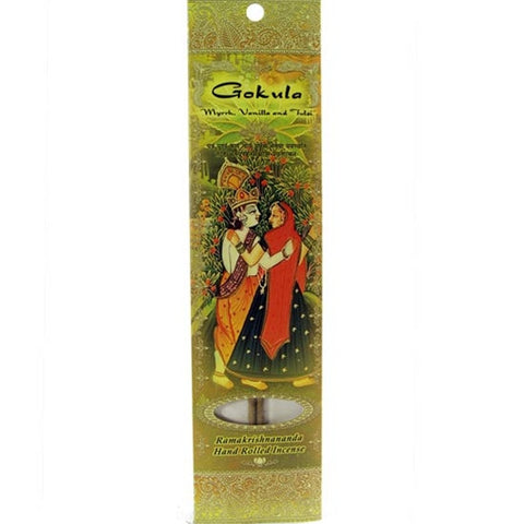 Sample Incense 2 Sticks - Gokula - Myrrh, Vanilla, and Tulsi