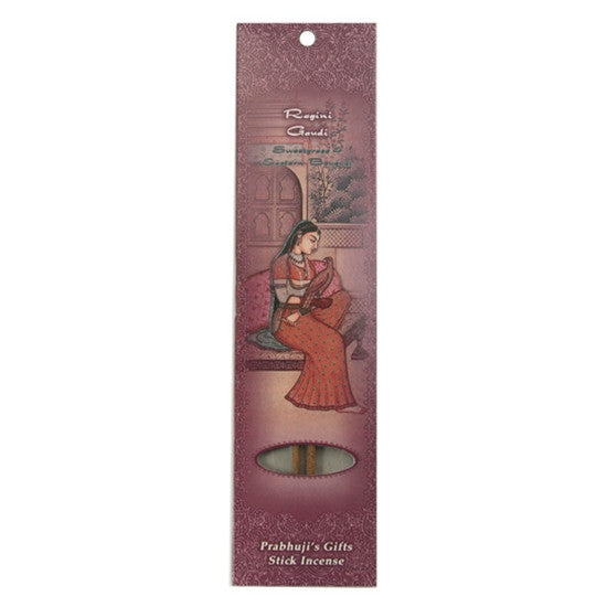 Sample Incense 2 Sticks - Ragini Gaudi - Sweetgrass and Eastern Bouquet - Pure love