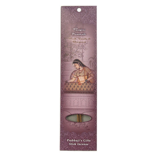 Sample Incense 2 Sticks - Ragini Kachaili - Musk, Vanilla, and Bergamot - Transcendence