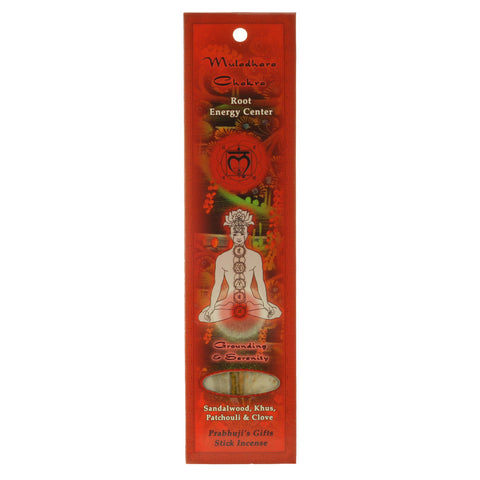Sample Incense 2 Sticks - Root Chakra Muladhara - Grounding and Serenity