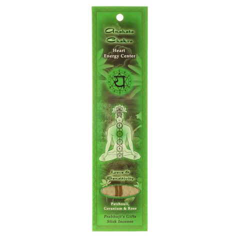 Sample Incense 2 Sticks - Heart Chakra Anahata - Love and Sensitivity