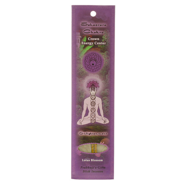 Sample Incense 2 Sticks - Crown Chakra Sahasrara - Enlightenment