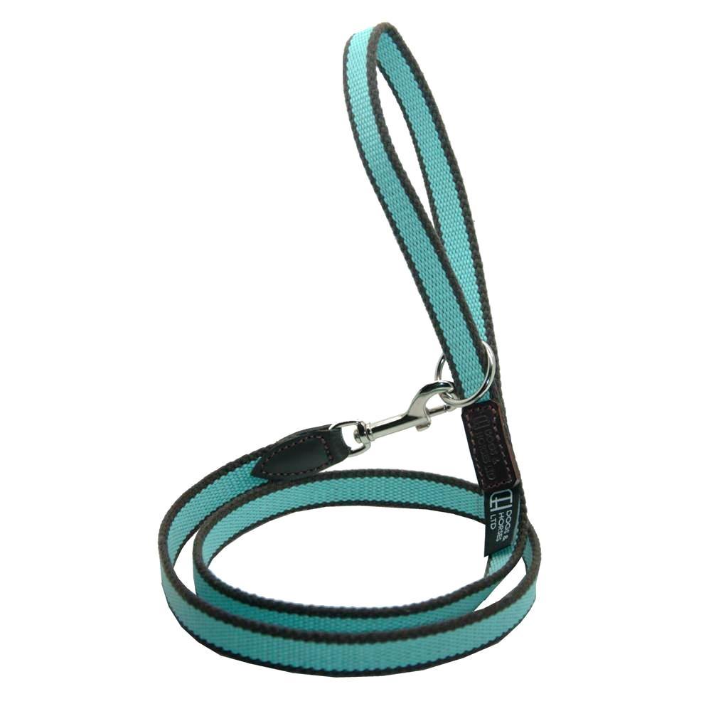 D&H STRIPED COTTON WEBBING DOG LEAD
