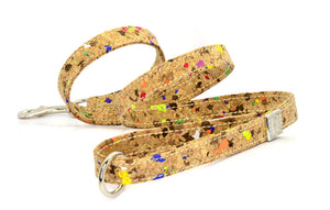 D&H London LIMITED EDITION Dog Lead in real CORK and Leather. MADE-TO-ORDER