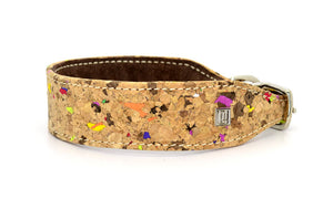 D&H LIMITED EDITION Dog Collar. Our unprecedented design in real CORK and Leather. MADE-TO-ORDER