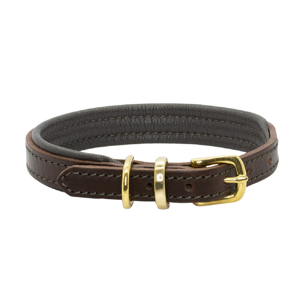D&H PADDED LEATHER DOG COLLAR