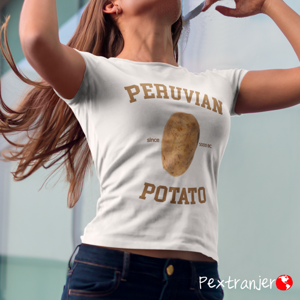 Peruvian Potato Manga Corta Damas