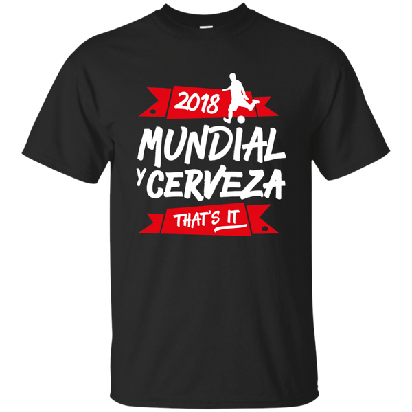2018 Mundial y Cerveza That's It Manga Corta