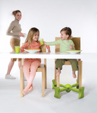 Green - KABOOST Booster Seat - Goes Under the Chair