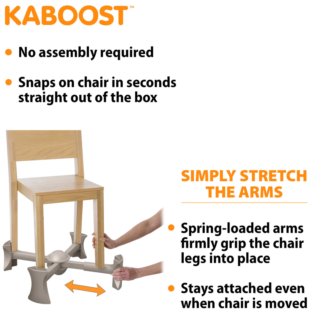 Natural - KABOOST Chair Booster - Goes Under the Chair