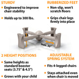 Natural - KABOOST Booster Seat - Goes Under the Chair