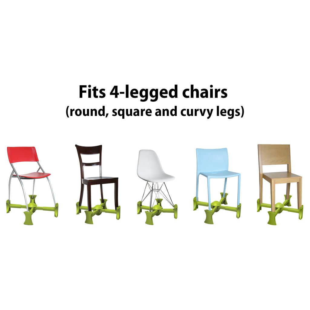 Green - KABOOST Chair Booster - Goes Under the Chair