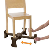 Chocolate - KABOOST Chair Booster - Goes Under the Chair