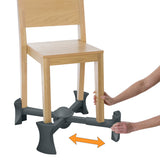 Charcoal - KABOOST Chair Booster - Goes Under the Chair
