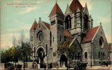St Louis Missouri~2nd Presbyterian Church~Congregants Leave Service~Auto~c1910 | Refried Jeans Postcards