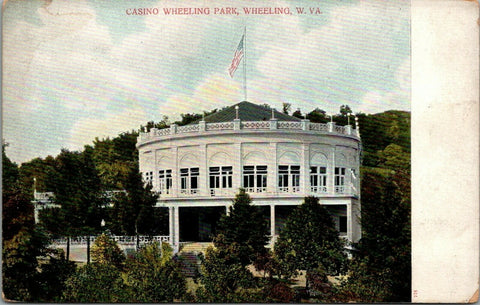 Wheeling Park West Virginia~Casino-in-the-Round~Second-Story Patio Deck c1906 | Refried Jeans Postcards