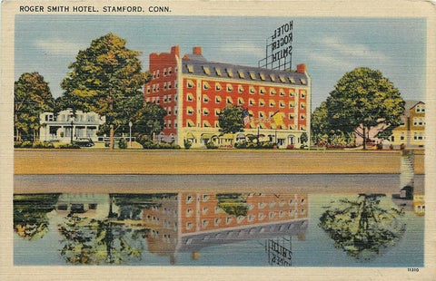 Stamford Connecticut~Roger Smith Hotel~1940s Postcard | Refried Jeans Postcards