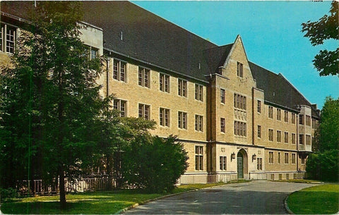 Wooster Ohio~Babcock Hall at College of Wooster 1962 | Refried Jeans Postcards