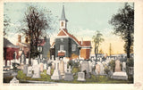 Philadelphia PA~Old Swedes Church~Tombstones in Grave Yard~1903 Detroit Pub Co | Refried Jeans Postcards
