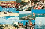 Wildwood By The Sea NJ~To Our Army Boat~Beach~Carousel~Boardwalk~1950s PC | Refried Jeans Postcards