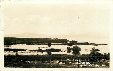 Klamath Falls Oregon~Klamath Lake~1920s Real Photo Postcard~RPPC | Refried Jeans Postcards