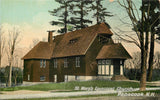 Penacook NH St Mary's Episcopal Church~Beautiful Brown Building c1909 Postcard | Refried Jeans Postcards