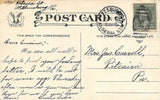 Pittsburgh Pennsylvania 1911 Postmark~Man Fishing River From Plank Log~Bluffs~PC | Refried Jeans Postcards