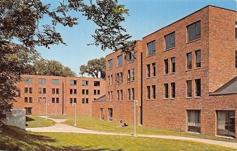 St Paul Minnesota~Hamline University~New Student Dormitory 1960s PC | Refried Jeans Postcards