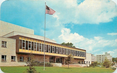 South Bend Indiana~University~Mishawaka Campus~1950s Postcard | Refried Jeans Postcards