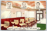 New Orleans Louisiana~Messina's Oyster House~Est 1905~Interior~c1940 Linen PC