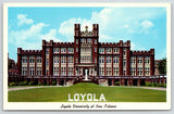 New Orleans Louisiana~Loyola University~Large Letter Sign on Lawn~1958 Postcard