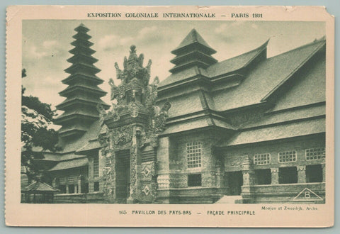 Paris France~International Colonial Exhibition~Main Pavilion of the Netherlands