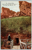 Mt Morrison Colorado~Gent on Railing at Spring of Rhea~Garden of Titans~c1914