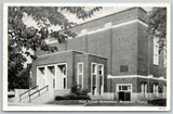 Monmouth Illinois~Steps Up To Art Deco High School Gymnasium~Door Open 1947 B&W
