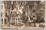 Manchester Vermont~Equinox House~Straight Back Chairs Under Trees~Cars~c1916