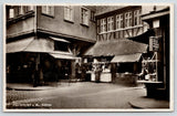 Frankfurt Germany~A M Schirne~Warm Wurst Stand~Hot Dog Chef~Too Full~1935 RPPC