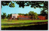 Carbondale Southern Illinois University~Library Framed by Trees & Grounds 1957