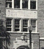 Caruthersville MO Old High School Hid in Trees~(Built in 1920s or 30s?) 1955 B&W
