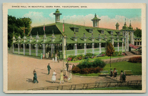 Youngstown Ohio~Idora Park Dance Hall Pavilion~Fashionable Ladies & Gents~1931