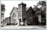 Mt Pleasant IA~1st Baptist Church~Message: Jesus Thou Shalt Be Saved~1940s RPPC