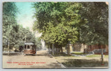 Mattoon Illinois~Prairie Avenue Homes @ 24th Street~Trolley & Conductor~1909
